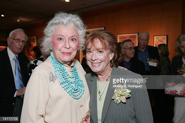 Actresses Ann Rutherford and Gigi Perreau attend the AMPAS Centennial Celebration for Barbara Stanwyck on May 16 2007 in Los Angeles California
