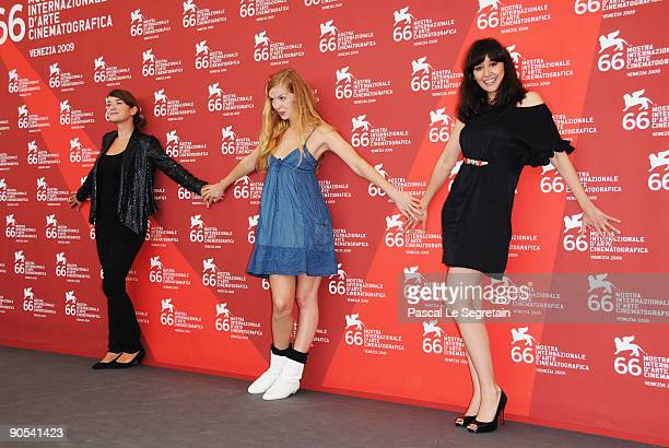 Actresses Anna Bederke Pheline RogganDorka Gryllus attend the 'Soul Kitchen' photocall at the Palazzo del Casino during the 66th Venice Film Festival...