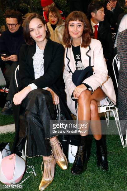 Actresses Anna Brewster and Ella Purnell attend the Chanel Haute Couture Spring Summer 2019 show as part of Paris Fashion Week on January 22 2019 in...