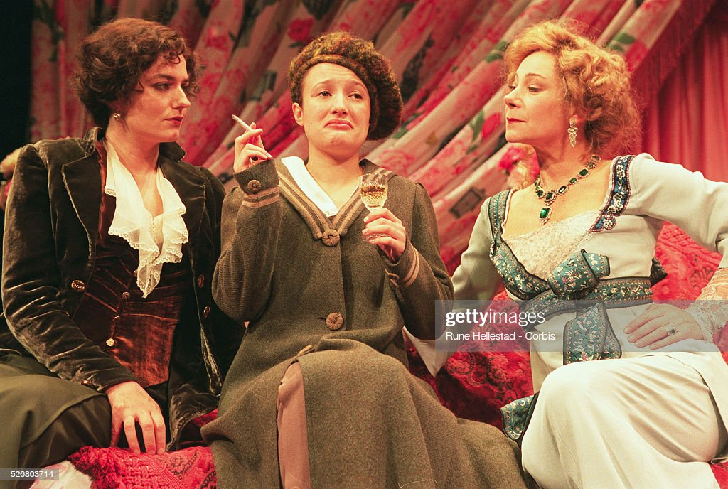 Actresses Anna Chancellor, Lynsey Marshal, and Zoe Wanamaker