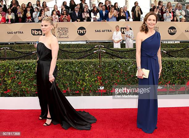 Actresses Anna Chlumsky and Diane Lane attend the 22nd Annual Screen Actors Guild Awards at The Shrine Auditorium on January 30, 2016 in Los Angeles,...