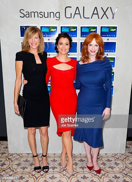 Actresses Anna Gunn, Bellamy Young and Christina Hendricks attend the Variety Studio powered by Samsung Galaxy at Palihouse on May 29, 2014 in West...