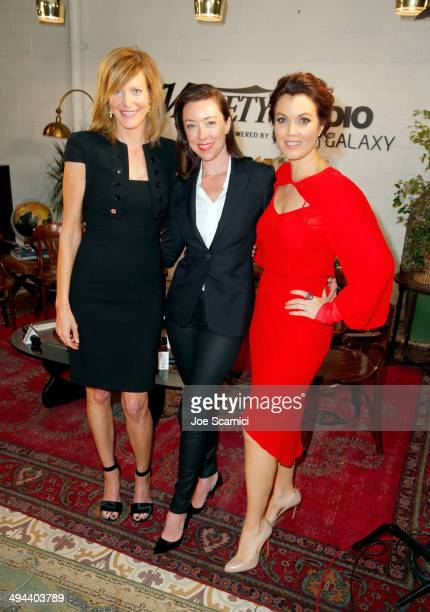 Actresses Anna Gunn Molly Parker and Bellamy Young attend the Variety Studio powered by Samsung Galaxy at Palihouse on May 29 2014 in West Hollywood...