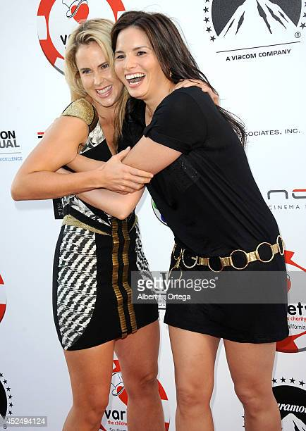 Actresses Anna Hutchison and Katrina Law arrive for the 4th Annual Variety The Children's Charity Of Southern CA Texas Hold 'Em Poker Tournament held...