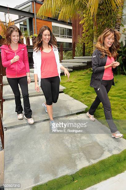 Actresses Anna Kendrick Emmy Rossum and Lindsay Price attend the Reebok Women's Fitness event on June 16 2010 in Los Angeles California