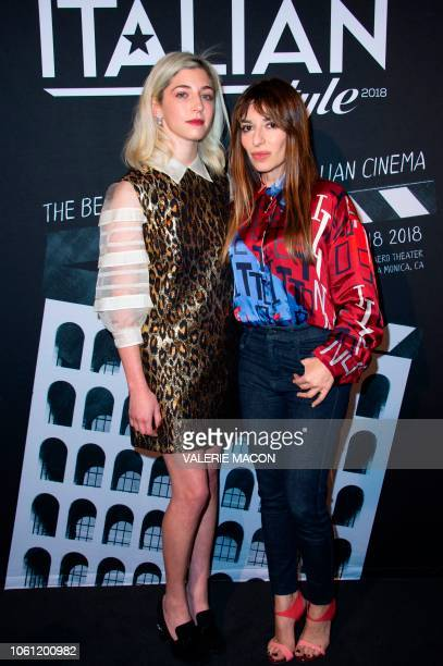 Actresses Annabelle Attanasio and Valeria Golino arrive at the AFI FEST 2018 Presented By Audi Cinema Italian Style KickOff Event and Inaugural...
