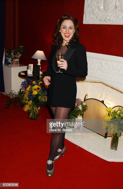 Actresses AnnaJane Casey and Jill Halfpenny during Jill's West End debut as Roxie Hart in 'Chicago The Musical' at The Adelphi Theatre on January 31...