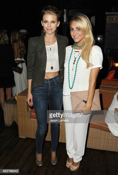 Actresses AnnaLynne McCord and Cassie Scerbo attend the 3rd annual Summer Soiree at Petit Ermitage Hotel on August 17 2014 in West Hollywood...