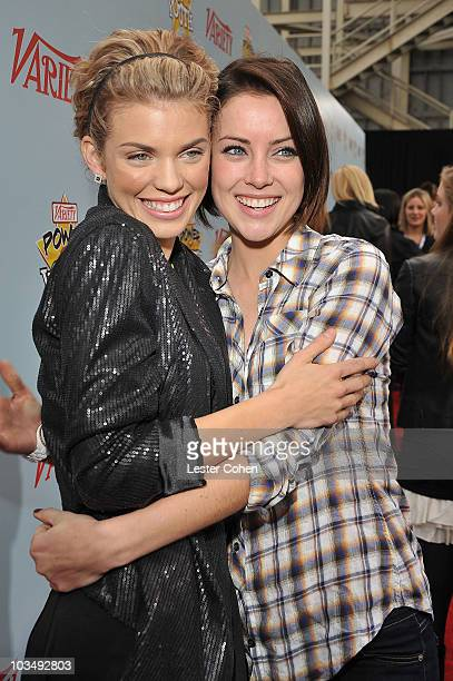 Actresses AnnaLynne McCord and Jessica Stroup arrive at Variety's 3rd annual Power of Youth event held at Paramount Studios on December 5 2009 in Los...