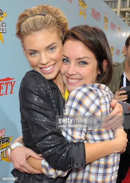 Actresses AnnaLynne McCord and Jessica Stroup arrive at Variety's 3rd annual 'Power of Youth' event held at Paramount Studios on December 5 2009 in...