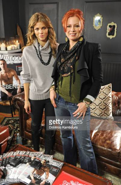 Actresses AnnaLynne McCord and Traci Lords attend Day 3 of Miami Oasis at the TMobile Google Music Village at The Lift on January 22 2012 in Park...