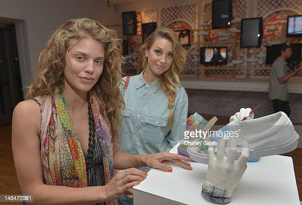 Actresses AnnaLynne McCord and Whitney Port attend the Vans Custom Culture Final Event 2012 at the Long Beach Museum of Art on May 30 2012 in Long...