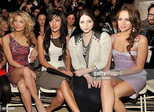 Actresses AnnaLynne McCord Jessica Szohr Michelle Trachtenberg and Shantel Vansanten attend the Jill Stuart Fall 2010 Fashion Show during...