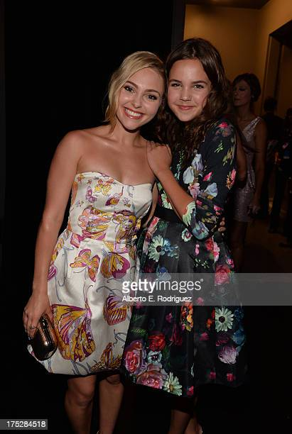 Actresses AnnaSophia Robb and Bailee Madison attend CW Network's 2013 Young Hollywood Awards presented by Crest 3D White and SodaStream held at The...
