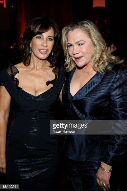 Actresses Anne Archer and Kathleen Turner during the AFI Lifetime Achievement Award A Tribute to Michael Douglas held at Sony Pictures Studios on...