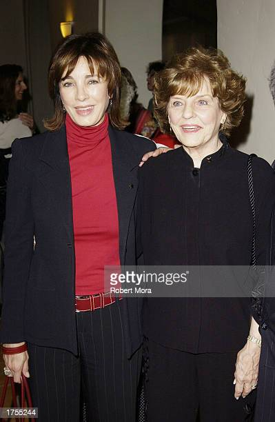 Actresses Anne Archer and Marjorie Lord attend the 17th Annual Hollywood Arts Council Awards Luncheon at the Roosevelt Hotel on January 31 2003 in...