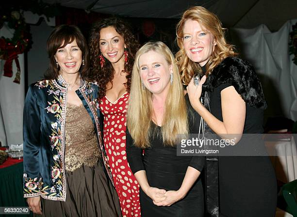 Actresses Anne Archer Sofia Milos Nancy Cartwright and Michelle Stafford pose backstage during the Church of Scientology's An Evening of Holiday Joy...