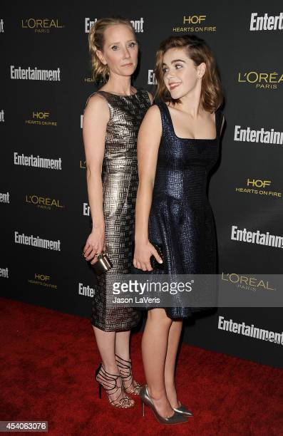 Actresses Anne Heche and Kiernan Shipka attend the 2014 Entertainment Weekly preEmmy party at Fig Olive Melrose Place on August 23 2014 in West...