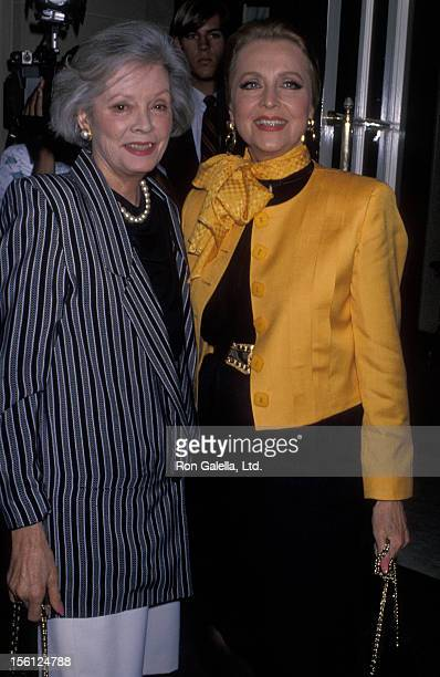 Actresses Anne Jeffreys and Jane Greer attending 'BMI Michael Jackson Awards' on May 8 1990 at the Beverly Wilshire Hotel in Beverly Hills California