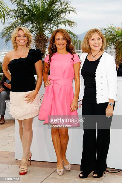 Actresses Anne Louise Hassing Alexandra Rapaport and Susse Wold pose at the 'Jagten' Photocall during the 65th Annual Cannes Film Festival at Palais...