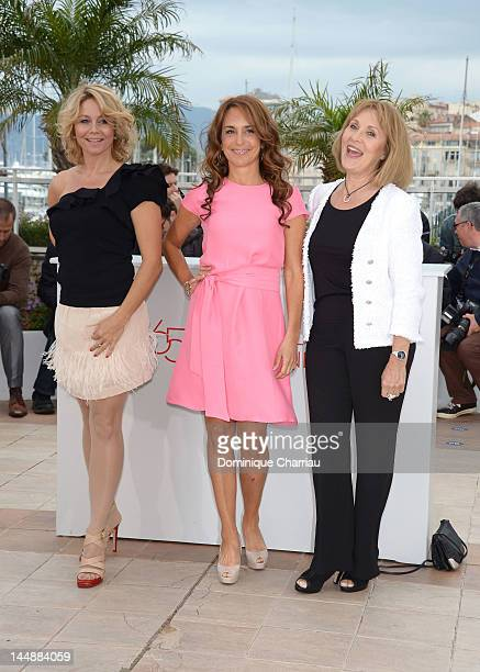 Actresses Anne Louise Hassing Alexandra Rapaport and Susse Wold attend the Jagten Photocall during the 65th Annual Cannes Film Festival at Palais des...