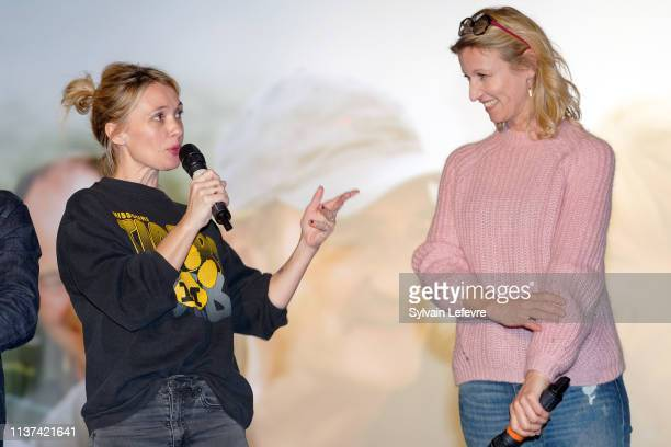 Actresses Anne Marivin and Alexandra Lamy attend the 'Chamboultout' Premiere on March 21 2019 in Lille France