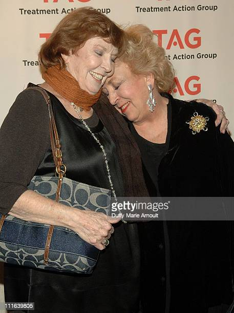 Actresses Anne Meara and Doris Roberts attend the 12th annual Treatment Action Group's Research in Action awards at Astor Center on December 14 2008...