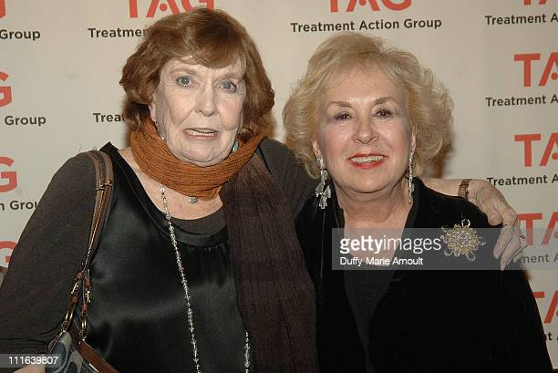 Actresses Anne Meara and Doris Roberts attend the 12th annual Treatment Action Group's Research in Action awards at Astor Center on December 14, 2008...