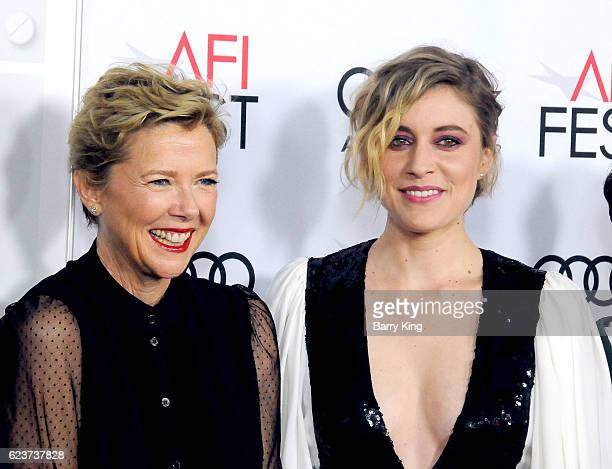 Actresses Annette Bening and Greta Gerwig attend a tribute to Annette Bening and gala screening of A24's '20th Century Women' during AFI FEST 2016...
