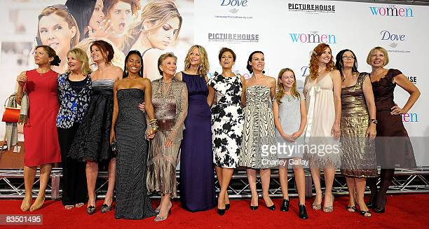 Actresses Annette Bening, Candice Bergen, Debra Messing, Jada Pinkett Smith, Cloris Leachman, Meg Ryan, Eva Mendes, Debi Mazar, India Ennenga, Tilly...