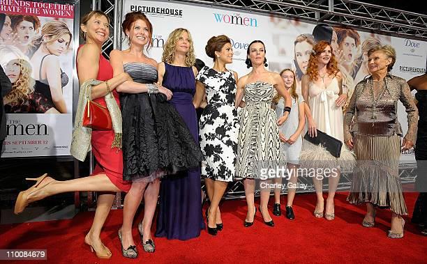 Actresses Annette Bening, Debra Messing, Meg Ryan, Eva Mendes, Debi Mazar, India Ennenga, Tilly Scott Pedersen, and Cloris Leachman arrive at...