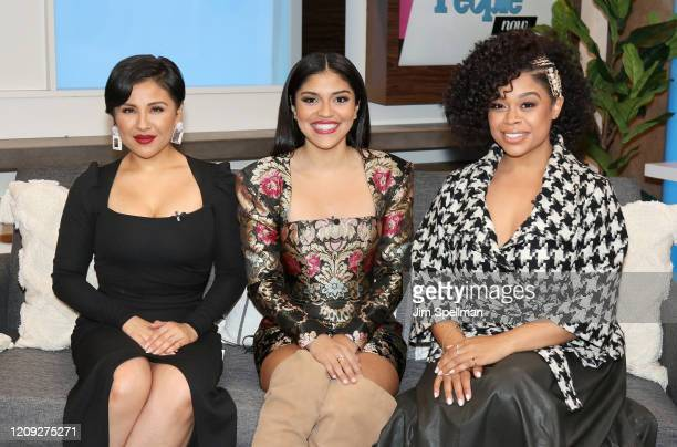 Actresses Annie Gonzalez Karrie Martin and Julissa Calderon visit People TV on February 28 2020 in New York United States