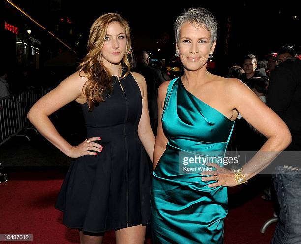 Actresses Annie Guest and mother Jamie Lee Curtis arrive at the premiere of Touchstone Pictures' You Again held at the El Capitan Theatre on...