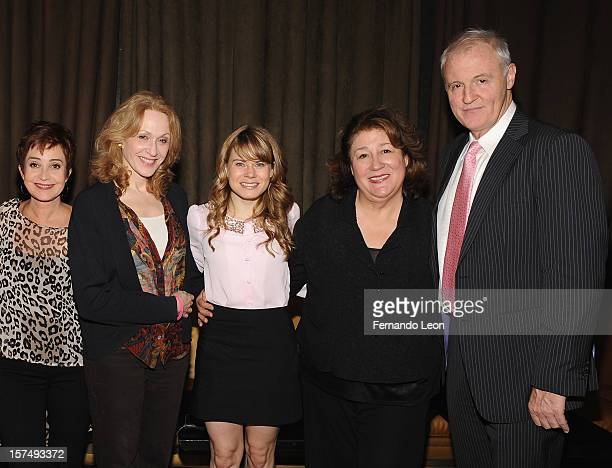 Actresses Annie Potts Jan Maxwell Celia KeenanBolger and Margo Martindale with writer Robert Harling attend the after party for the 25th anniversary...
