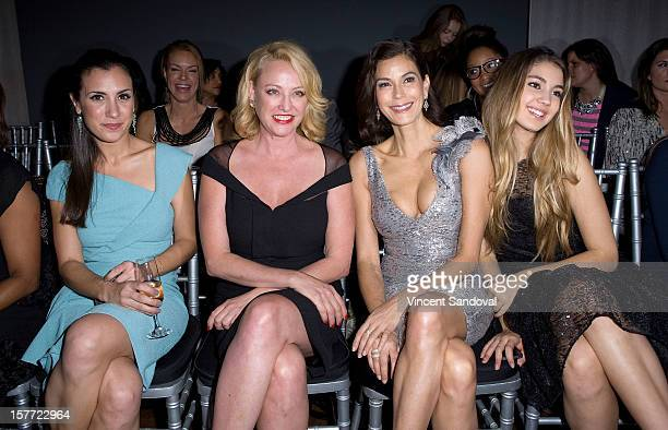 Actresses Annika Marks Virginia Madsen Teri Hatcher and Teri's daughter Emerson Rose Tenney attend fashion designer Kevan Hall's Spring 2013...