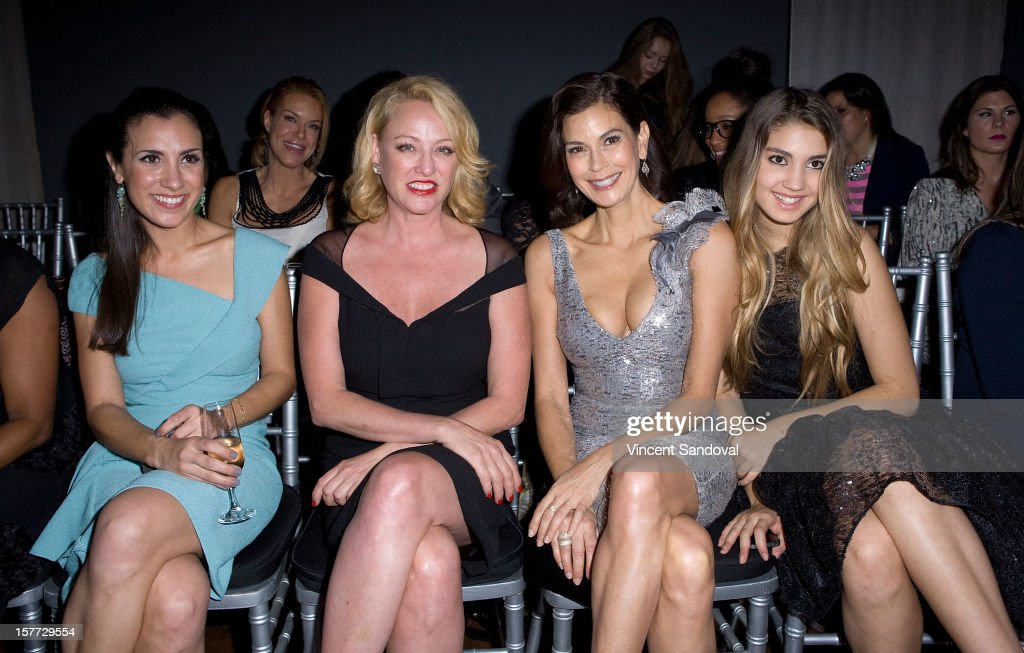 Actresses Annika Marks, Virginia Madsen, Teri Hatcher and Teri's daughter Emerson Rose Tenney attend fashion designer Kevan Hall's Spring 2013 Collection on December 5, 2012 in Los Angeles, California.