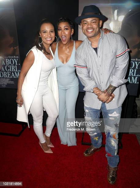 Actresses Antonique Smith and Meagan Good and actor Anthony Hemingway attend the premiere of Samuel Goldwyn Films' 'A Boy A Girl A Dream' at the...