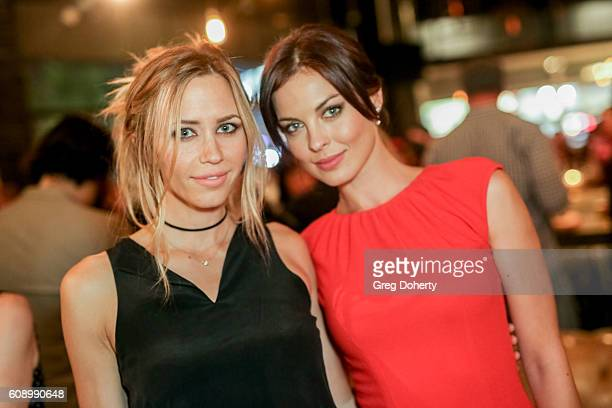 Actresses Aqueela Zoll and Vlada Verevko attend the Premiere Of Studio 71's 'Rush Inspired By Battlefield' after party at Stella Barra Pizzeria on...