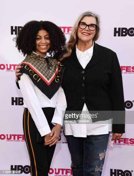 Actresses Arica Himmel and Linda Arroz arrive at the 2019 Outfest Los Angeles LGBTQ Film Festival Closing Night Gala Premiere of Before You Know It...