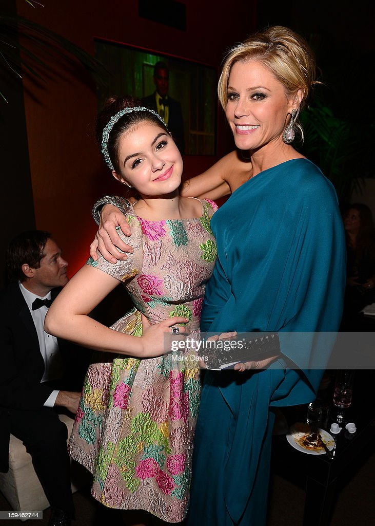 Actresses Ariel Winter (L) and Julie Bowen attend the FOX After Party for the 70th Annual Golden Globe Awards held at The FOX Pavillion at The Beverly Hilton Hotel on January 13, 2013 in Beverly Hills, California.