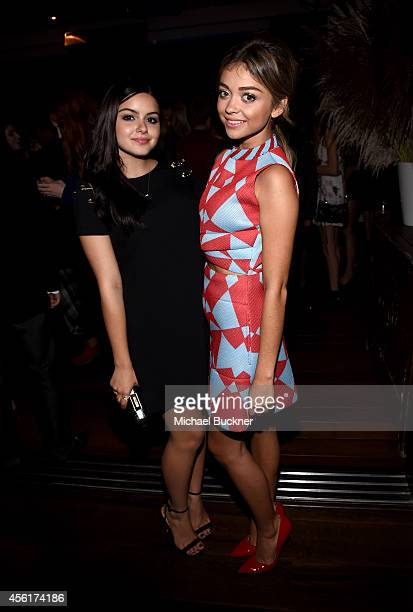 Actresses Ariel Winter and Sarah Hyland attend the 12th Annual Teen Vogue Young Hollywood Party with Emporio Armani on September 26 2014 in Beverly...