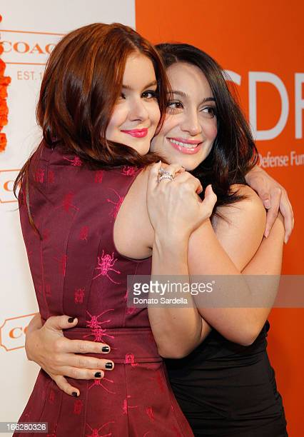 Actresses Ariel Winter and Shanelle Gray attend Coach's 3rd Annual Evening of Cocktails and Shopping to Benefit the Children's Defense Fund hosted by...