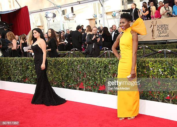 Actresses Ariel Winter and Sola Bamis attend the 22nd Annual Screen Actors Guild Awards at The Shrine Auditorium on January 30 2016 in Los Angeles...