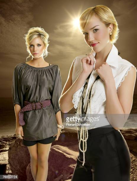 Actresses Arielle Kebbel and Brittany Snow are photographed for Hollywood Life in 2006 in Los Angeles, California. PUBLISHED IMAGE.
