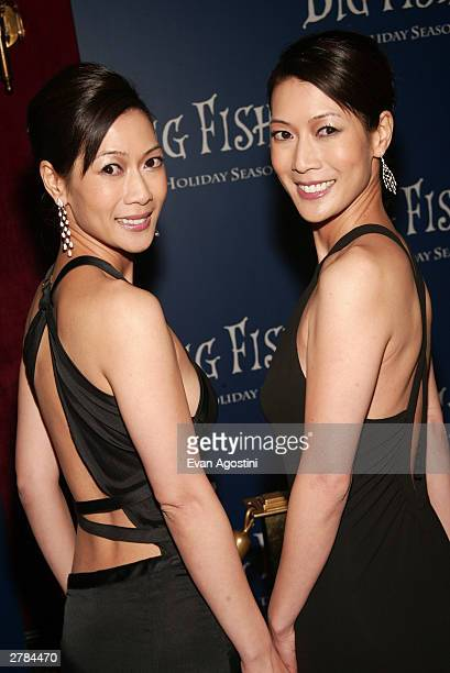 Actresses Arlene and Ada Tai attend the world premiere of Big Fish at the Ziegfeld Theater December 04 2003 in New York City