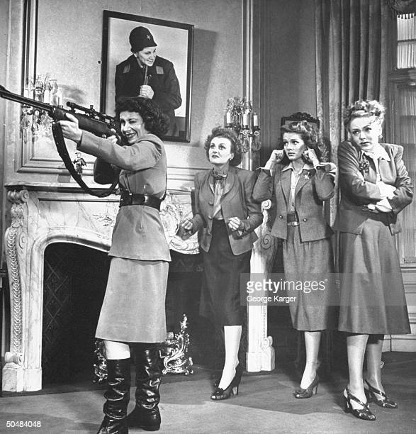 Actresses Arlene Francis Doris Nolan Arleen Whelan and Virginia Field performing in the play The Doughgirls