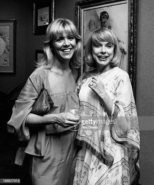 Actresses Arlene Golonka and Terry Moore attend the grand opening of Gallery Hawaii on March 28 1980 in Honolulu Hawaii