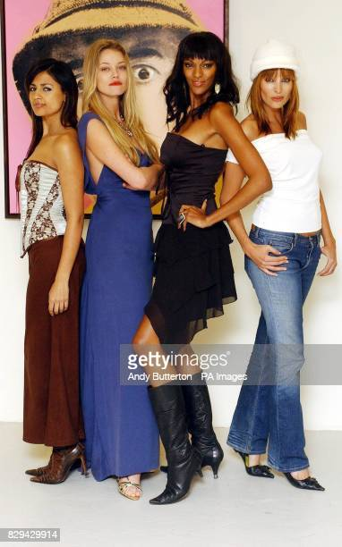 Actresses Aruna Shields Natasja Vermeer Judi Shekoni and Catalina Guirado during a photocall for their new film Private Moments held at the Apart...