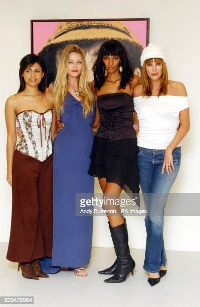 Actresses Aruna Shields Natasja Vermeer Judi Shekoni and Catalina Guirado during a photocall for new film Private Moments held at the Apart Gallery...