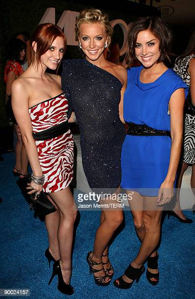 """Actresses Ashlee Simpson-Wentz, Katie Cassidy and Jessica Stroup attend the CW & AT&T's """"Melrose Place"""" premiere party on Melrose Place on August 22,..."""
